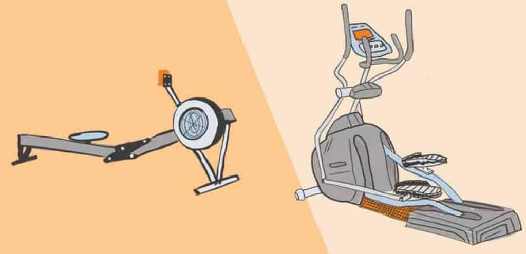 Elliptical vs Rowing Machines