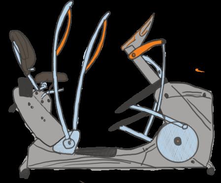 recumbent elliptical trainers