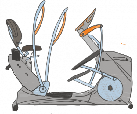 seated elliptical trainer | inspired by octane fitness XR6s